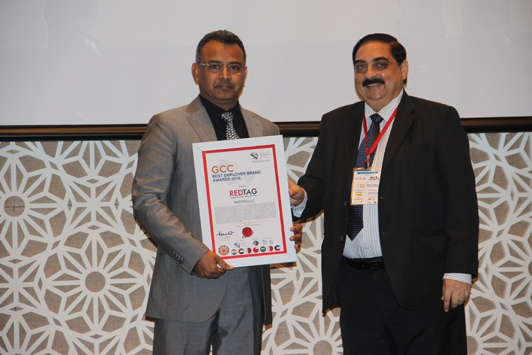 REDTAG Credited as the GCC Best Employer 2016 by the Employer Branding Institute